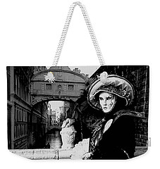 Weekender Tote Bag featuring the photograph Lady And The Sigh by Donna Corless