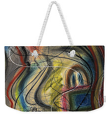 Lady With Purse Weekender Tote Bag