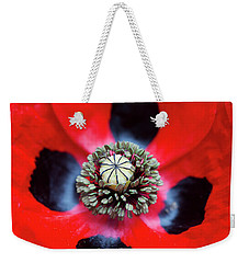 Weekender Tote Bag featuring the photograph Ladybird Poppy Flower by Tim Gainey