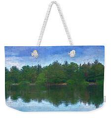 Lake And Trees Weekender Tote Bag