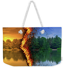 Lake Forest Fire Weekender Tote Bag