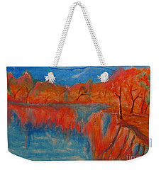 Lake Mirror Weekender Tote Bag