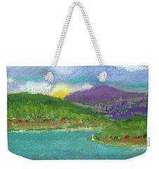 Weekender Tote Bag featuring the photograph Lake View by David Patterson