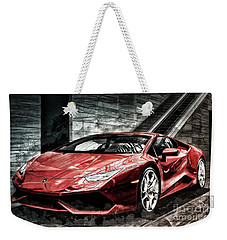 Weekender Tote Bag featuring the photograph Lamborghini Huracan 2 by Brad Allen Fine Art