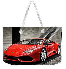 Weekender Tote Bag featuring the photograph Lamborghini Huracan by Brad Allen Fine Art