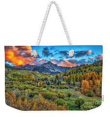 Last Light Mount Sneffels Weekender Tote Bag