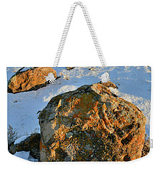 Last Light Of The Day In The Book Cliffs Weekender Tote Bag
