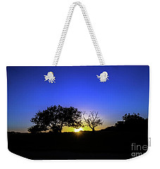 Last Light Texas Hill Country Paradise Canyon Sunset 8053a1 Weekender Tote Bag