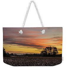 Late Fall In The Cotton Field Weekender Tote Bag