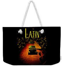 Latin Guitar Music Notes Weekender Tote Bag