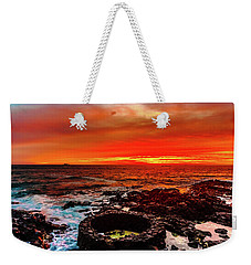 Lava Bath After Sunset Weekender Tote Bag