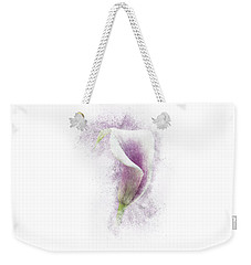 Lavender Calla Lily Flower Weekender Tote Bag