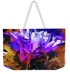 Lavender Flower And The Cobalt Blue Reflection Weekender Tote Bag