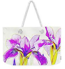 Lavender Irises Weekender Tote Bag