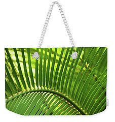 Weekender Tote Bag featuring the photograph Leaf Abstraction I by Leda Robertson