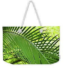 Weekender Tote Bag featuring the photograph Leaf Abstraction II by Leda Robertson