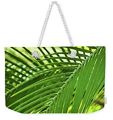 Weekender Tote Bag featuring the photograph Leaf Abstraction IIi by Leda Robertson