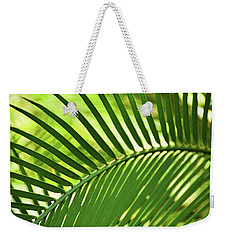 Weekender Tote Bag featuring the photograph Leaf Abstraction Iv by Leda Robertson
