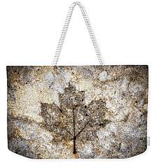 Leaf Imprint Weekender Tote Bag