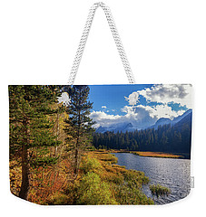 Weekender Tote Bag featuring the photograph Legends Of The Fall by Tassanee Angiolillo