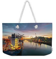 Leixoes Harbour Weekender Tote Bag