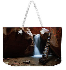 Weekender Tote Bag featuring the photograph Let It Flow by Tassanee Angiolillo
