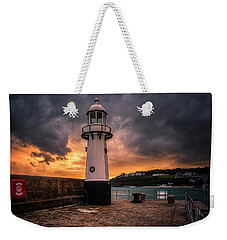 Lighthouse Dramatic Sky Weekender Tote Bag