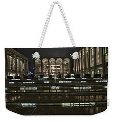 Lincoln Center For The Performing Arts Weekender Tote Bag