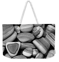 Lined Rocks And Shell Weekender Tote Bag
