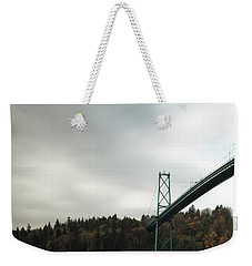 Lions Gate Bridge Vancouver Weekender Tote Bag