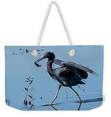 Little Blue Heron With Fish Weekender Tote Bag