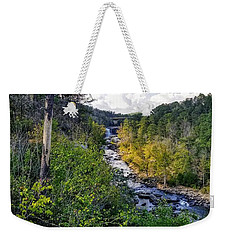 Weekender Tote Bag featuring the photograph Little River Canyon Alabama by Rachel Hannah