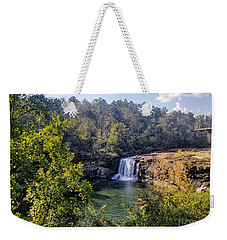 Weekender Tote Bag featuring the photograph Little River Canyon Falls Alabama by Rachel Hannah