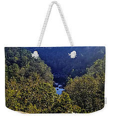 Weekender Tote Bag featuring the photograph Little River Canyon Overlook Alabama by Rachel Hannah