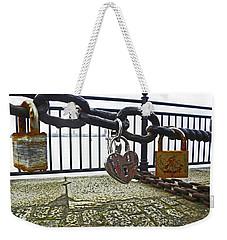 Liverpool. The Albert Dock. Eternal Love. Weekender Tote Bag