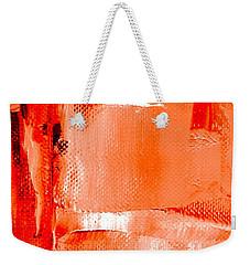 Living Coral Spectrum Abstract Weekender Tote Bag