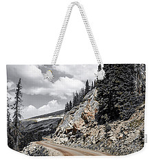 Weekender Tote Bag featuring the photograph Living On The Edge by Melissa Lane