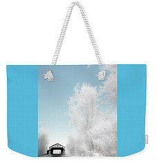 Weekender Tote Bag featuring the photograph Lockport Covered Bridge 2 by Michael Arend