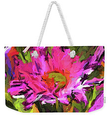 Lolly Pink Daisy Flower Weekender Tote Bag