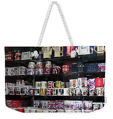 Weekender Tote Bag featuring the photograph London England Shop Window by Rick Veldman