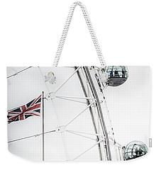 London Eye And Union Jack Weekender Tote Bag