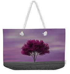 Lonely Tree At Purple Sunset Weekender Tote Bag