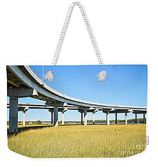 Long Concrete Bridge  Weekender Tote Bag