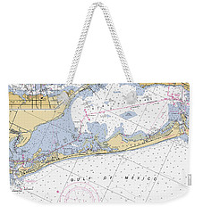 Longboat Ket Florida Noaa Nautical Chart Weekender Tote Bag