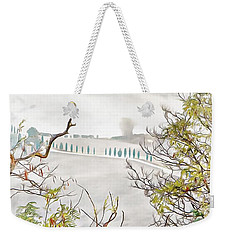 Weekender Tote Bag featuring the photograph Look Through Tuscan Autumn Foliage by Dorothy Berry-Lound