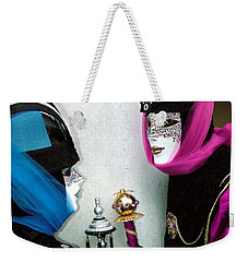 Weekender Tote Bag featuring the photograph Looking Into Each Others Eyes by Donna Corless