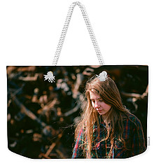 Weekender Tote Bag featuring the photograph Lost In The Metal by Carl Young