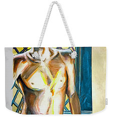 Weekender Tote Bag featuring the painting Lost Summer Love  by Rene Capone