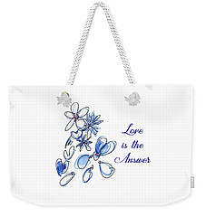 Love Is The Answer Weekender Tote Bag