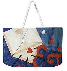 Love Letter Weekender Tote Bag